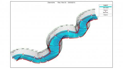 Vordimensionierung einer Fischaufstiegsanlage für größere Abflüsse
