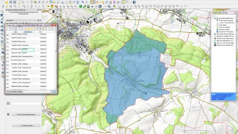 Auswertung von Flächendaten mit QGIS